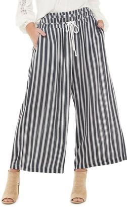American Rag Juniors' Smocked Waist Striped Pants