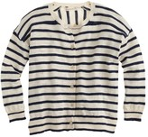 J.Crew Girls' striped cardigan sweater