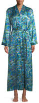Derek Rose Brindisi Long Floral-Print Silk Robe