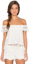 Nightcap Clothing Seashell Off Shoulder Blouse