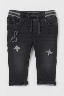 H&M Straight Fit Pull-on Jeans