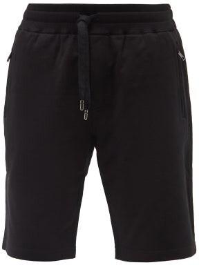 Dolce & Gabbana Logo Cotton-jersey Shorts - Black