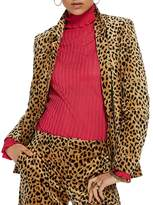 Scotch & Soda Velvet Animal-Print Blazer