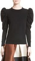 Co Women's Felted Knit Puff Sleeve Sweater