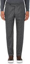 Boglioli Men's Wool Flannel Pleated Trousers