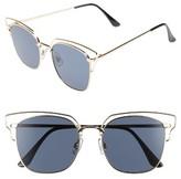 BP Women's 55Mm Metal Wire Sunglasses - Gold/ Black