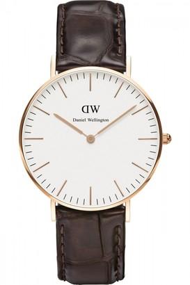 Daniel Wellington Ladies York Rose 36mm Watch DW00100038