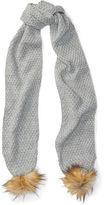 Ralph Lauren Knit Pom-Pom Scarf