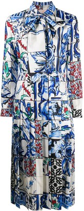 Tory Burch Tile-Print Silk Dress