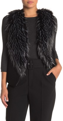 Love Token Faux Fur & Faux Suede Vest