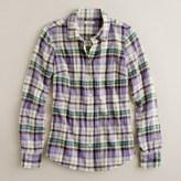 Suckered plaid shirt