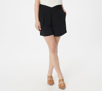Du Jour High-Waisted Shorts with Seaming Detail
