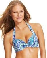 Tommy Bahama Paisley-Print Halter Bikini To Surf Blue 36D Multi