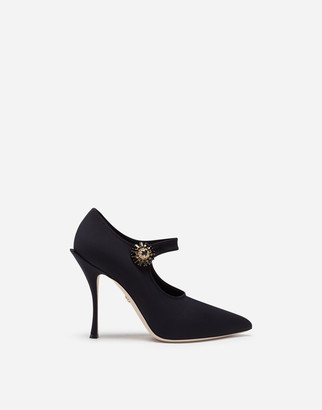 Dolce & Gabbana Mary Janes In Stretch Jersey
