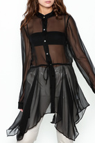 Illia Sheer Drawstring top