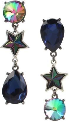 Betsey Johnson Stone Star Mismatch Drop Earrings