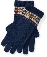 Ralph Lauren 7-16 Fair Isle Wool-Blend Gloves