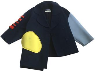 Jacquemus La Femme Enfant Blue Wool Coat for Women