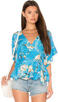 Yumi Kim That's A Wrap Top in Blue. - size L (also in M,S,XS)