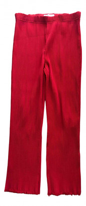 By Malene Birger Red Viscose Trousers