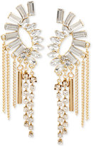INC International Concepts M. Haskell for Gold-Tone Crystal Baguette Earring Crawlers, Only at Macy's