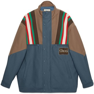 Gucci Drill jacket with label