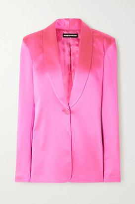 House of Holland Oversized Satin-crepe Blazer - Pink