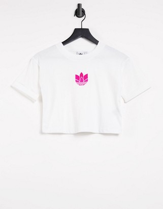 adidas crop top in white