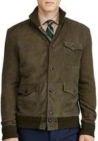 Polo Ralph Lauren Suede Panel Cardigan Sweater Jacket