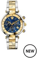 VERSACE Revive Chronograph Blue Dial Two Tone Bracelet Watch