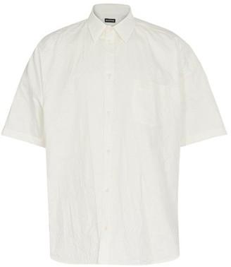 Balenciaga Short sleeve Cocoon wrinkled shirt