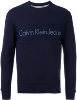 Calvin Klein Jeans crew neck logo sweatshirt - men - Cotton/Polyester - XS