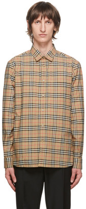 Burberry Beige Check Simpson Shirt