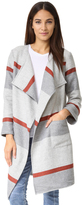 Cupcakes And Cashmere Jolie Yarn Dyed Stripe Blanket Coat