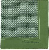 Salvatore Ferragamo Men's Bird- & Insect-Print Silk Pocket Square
