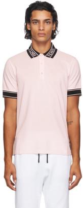 Fendi Pink Logo Collar Polo