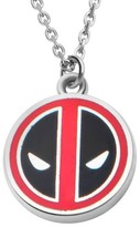 """Marvel Women's Deadpool Stainless Steel Small Pendant with Chain (18"""" + 2"""" ext.)"""