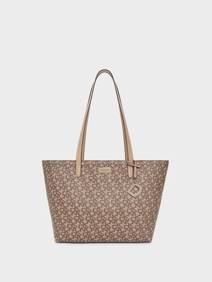 DKNY Women's Medium Town & Country Logo Tote - Chino/Sand - Size N/S