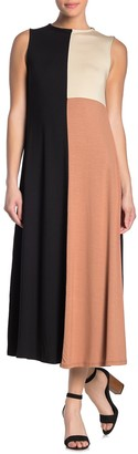 Rachel Pally Colorblock Sleeveless Maxi Dress