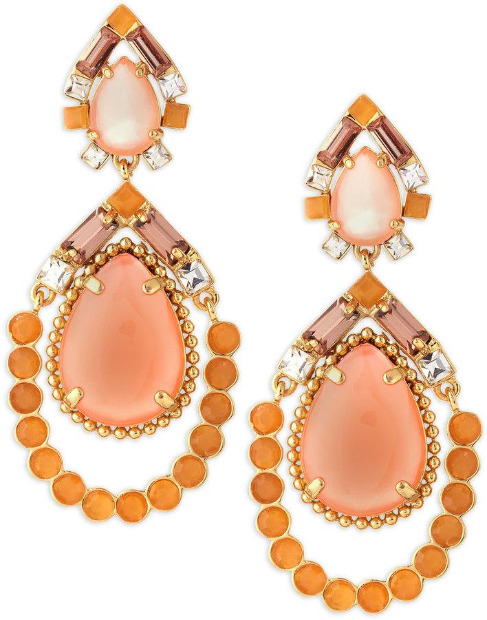 Kate Spade Amalfi Mosaic Earrings, Pink/Orange