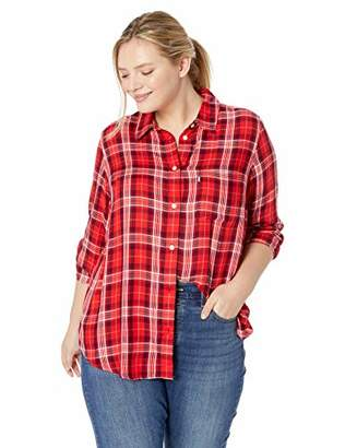 Levi's Women's Plus-Size Ryan One Pocket Boyfriend Shirt