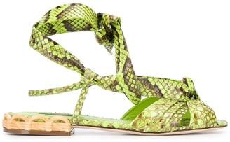 Dolce & Gabbana Snake Print Sandals