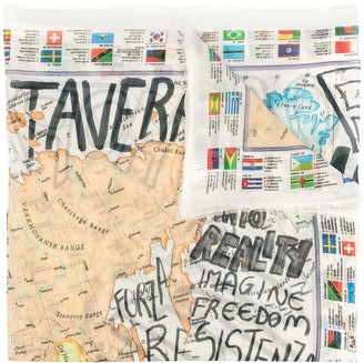 Faliero Sarti Graphic-Print Scarf