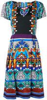 Alberta Ferretti printed flared dress - women - Cotton/other fibers - 48