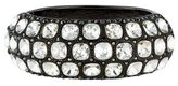 Kenneth Jay Lane Crystal Hinged Bangle Bracelet