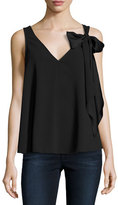 Trina Turk Poetic Sleeveless Fluid Crepe Blouse, Black