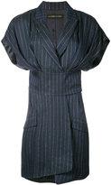 Alexandre Vauthier pinstripe dress - women - Linen/Flax/Lurex/Viscose - 36