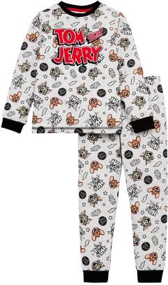 Tom & Jerry BoysAll Over Print Pyjamas - Grey