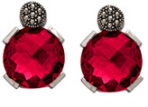 Marc Faceted Round Magenta Pink Earrings