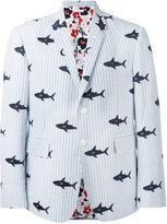 Thom Browne embroidered shark blazer - men - Cotton - 1